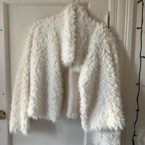 Massimo by Target White Furry Jacket